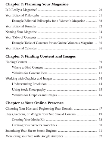 Table of Contents - Page 2